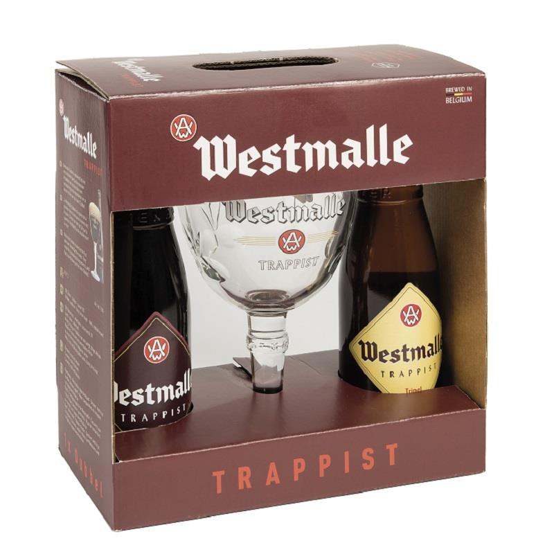 Westmalle 2x33cl + Glass Gift Pack