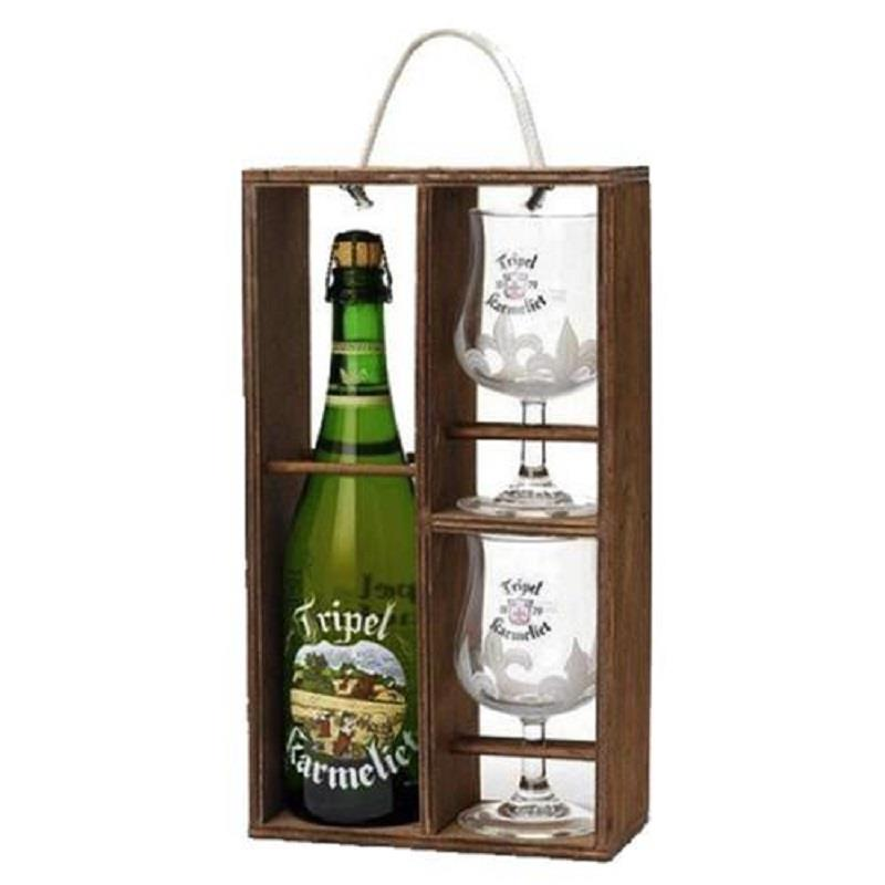 Tripel Karmeliet 75cl + 2 Glasses Gift Pac
